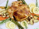 Easy Lemon Herb Roast Chicken with roasted vegetables, recipe on UrbanBlissLife.com