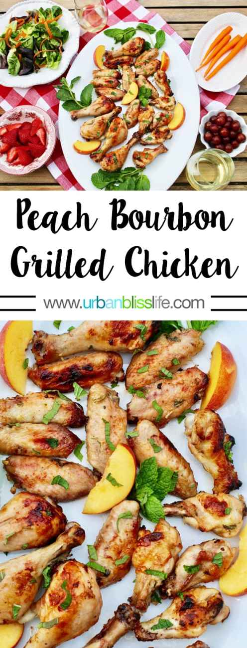 Food Bliss: Peach Bourbon Grilled Chicken