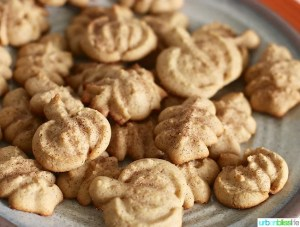 Maple Cinnamon Sugar Spritz Cookies recipe on UrbanBlissLife.com