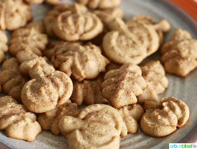 Food Bliss: Maple Cinnamon Sugar Spritz Cookies