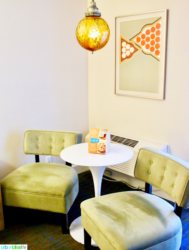 Ashland Hills Hotel and Suites suite sitting area, hotel review and travel tips on UrbanBlissLife.com