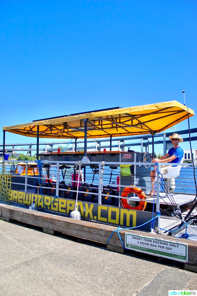 Beers, Barges, and Bridges: An Afternoon on the BrewBarge PDX