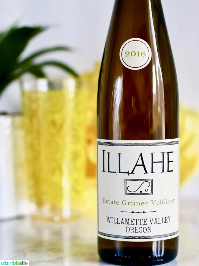 Wine Pairing for Pulled Pork Sliders with Pineapple Slaw: Ilahe Gruner Veltliner wine on UrbanBlissLIfe.com