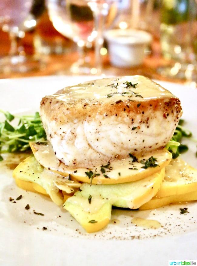 Lark Restaurant fish. Restaurant review on UrbanBlissLife.com