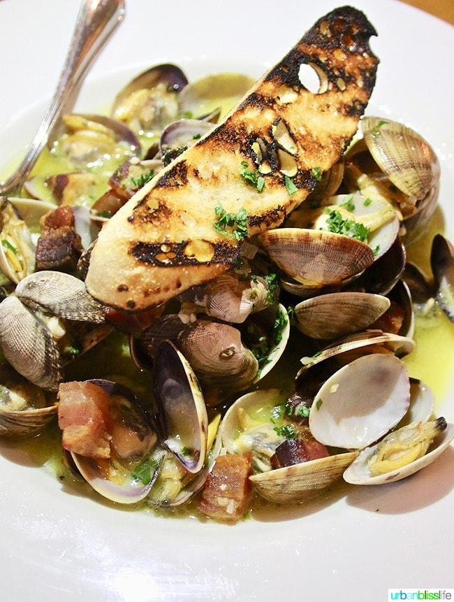 Lark Restaurant mussels. Restaurant review on UrbanBlissLife.com