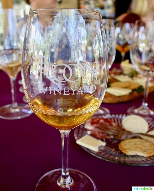 Applegate Valley wine tasting: Troon Vineyards white wine, on UrbanBlissLife.com
