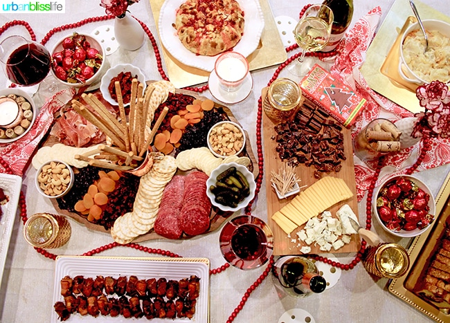 Holiday wine party on UrbanBlissLife.com