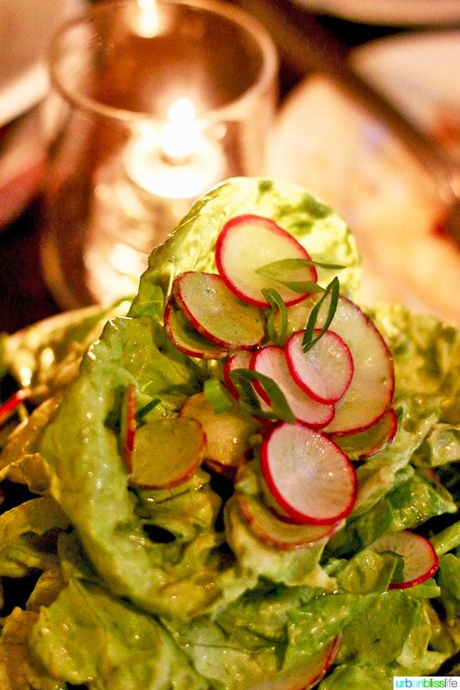 Butter Lettuce Salad at Radar restaurant in North Mississippi Ave in Portland, Oregon