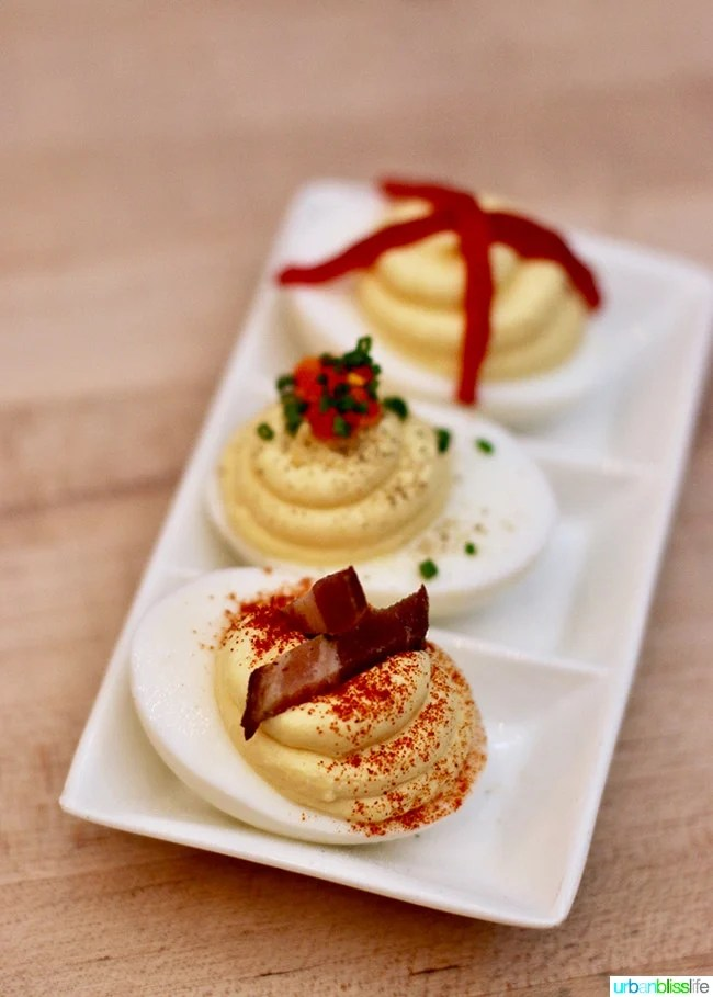 Deviled Eggs Three Ways Radar restaurant in North Mississippi Ave in Portland, Oregon