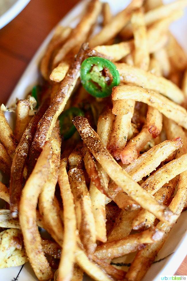 shawarma fries at Ray restaurant, Israeli cuisine in Portland, Oregon. Restaurant review on UrbanBlissLife.com