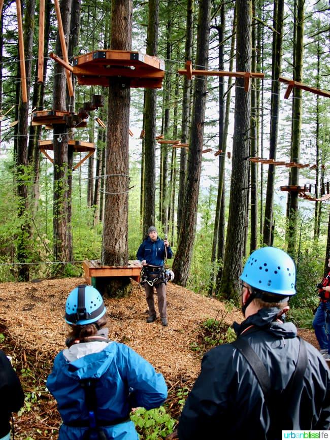 Skamania Lodge Aerial Park. Travel stories & hotel reviews on UrbanBlissLife.com