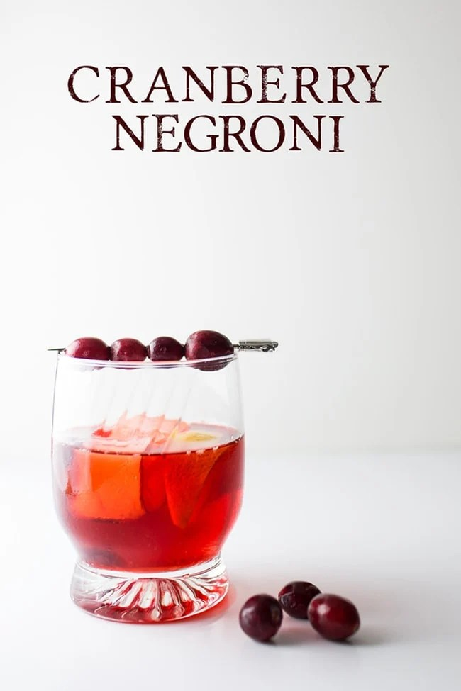 Cranberry Negroni 20 Festive Winter Party Cocktails on UrbanBlissLife.com