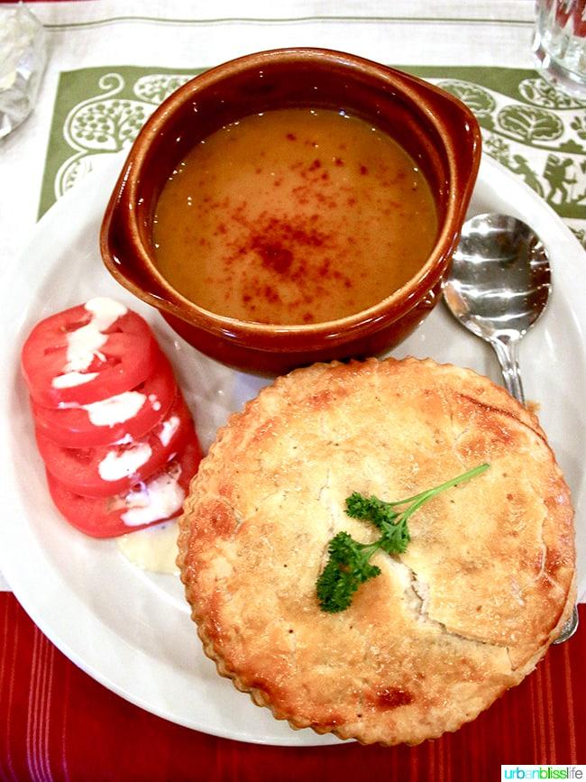Beef pot pie - André's Confiserie Suisse in Kansas City. Restaurant review on UrbanBlissLife.com