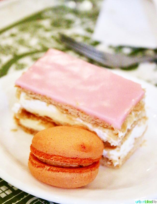 Napoleon dessert at André's Confiserie Suisse in Kansas City. Restaurant review on UrbanBlissLife.com