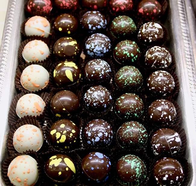 Chocolate truffles at Andrés in Kansas City, UrbanBlissLife.com