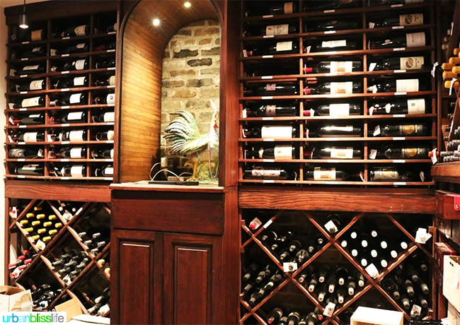 Wine Cellar at Steak Diane at Brennan's Restaurant, travel stories on UrbanBlissLife.com