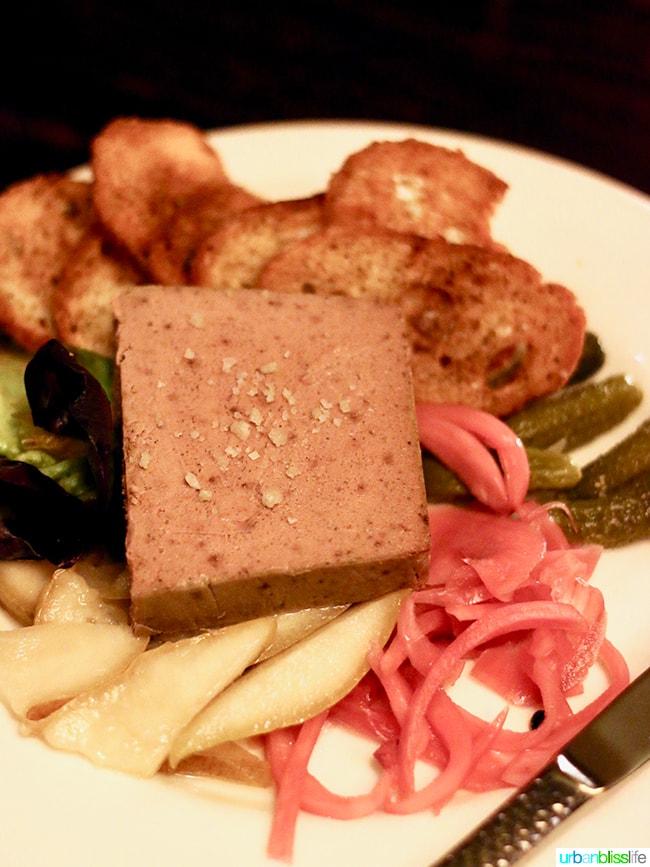 pate at Cabezon restaurant in Portland, Oregon. Full restaurant details on UrbanBlissLife.com