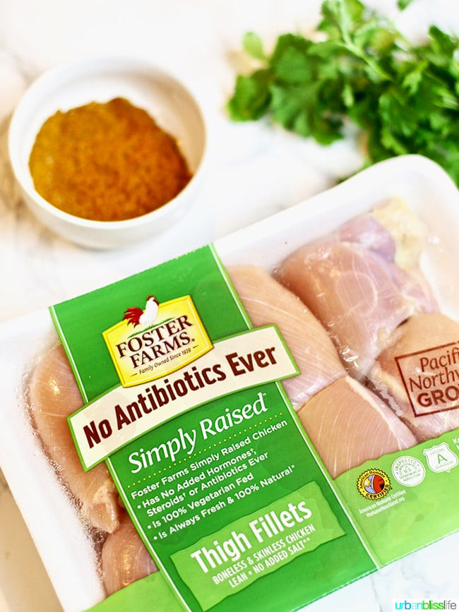 Foster Farms chicken - Healthy 30-Minute Instant Pot Moroccan Chicken recipe on UrbanBlissLife.com