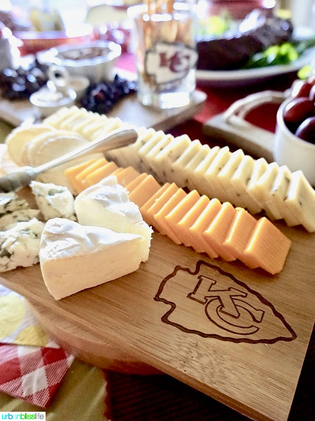 NFL Cheese Board Tips for Making Your Homegating Party a Touchdown! Ideas and Recipes on UrbanBlissLife.com