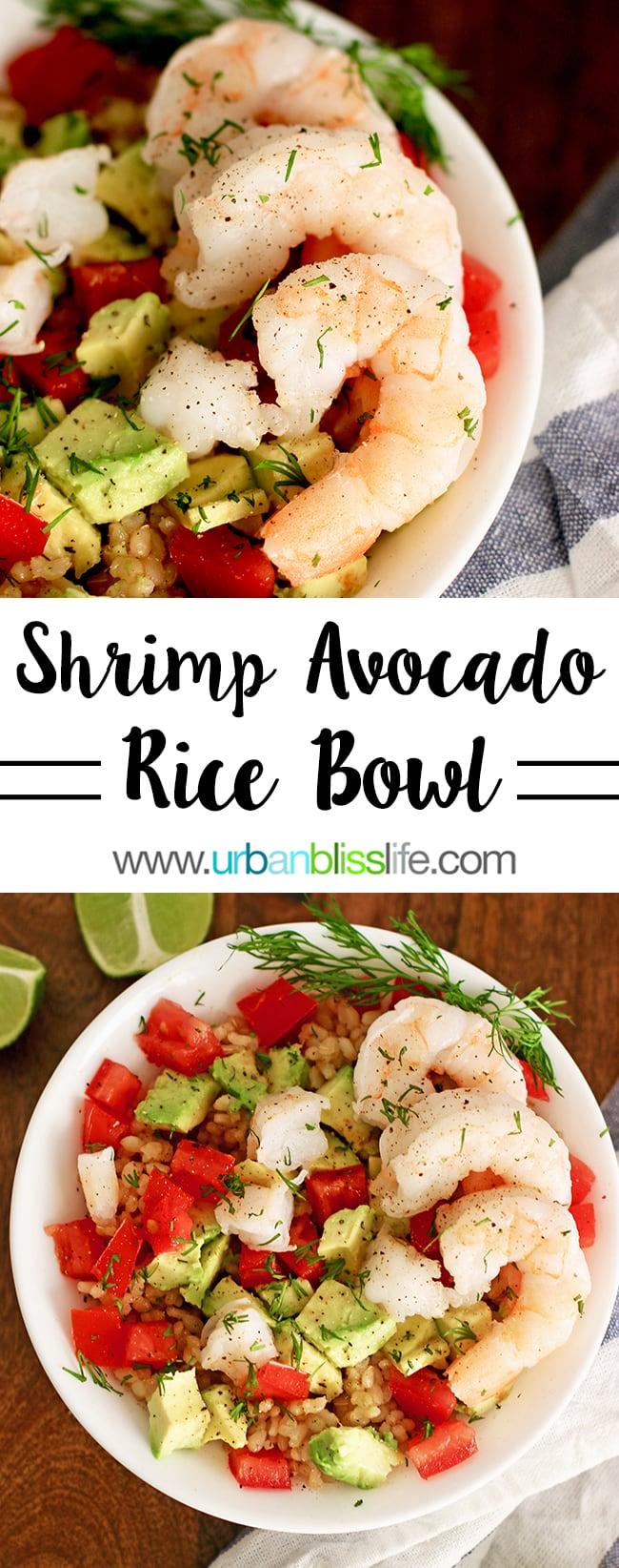 shrimp avocado rice bowl main image