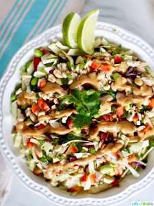 Thai Chicken Salad with dressing