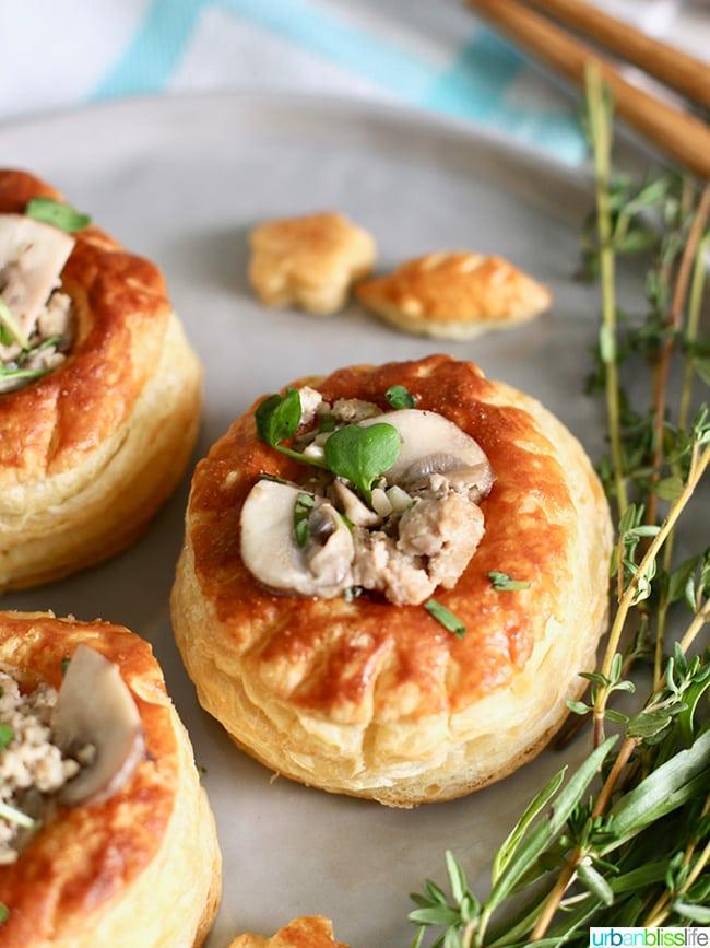 Meaty Mushroom Puff Pastry appetizer recipe