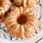 Mini Citrus Bundt Cakes landscape close up