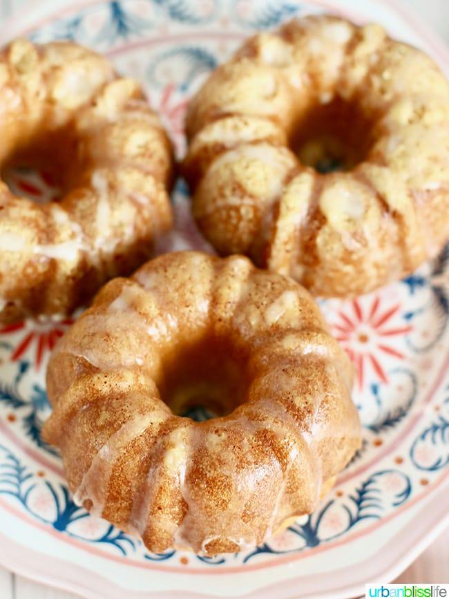 Mini Citrus Bundt Cakes trio