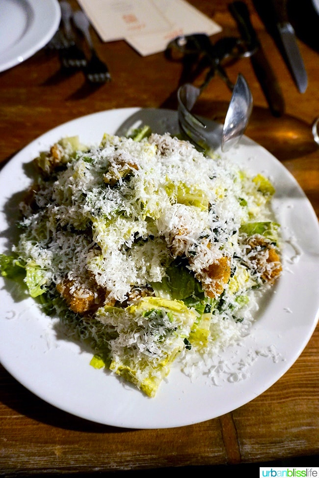 Il Solito restaurant green goddess caesar salad