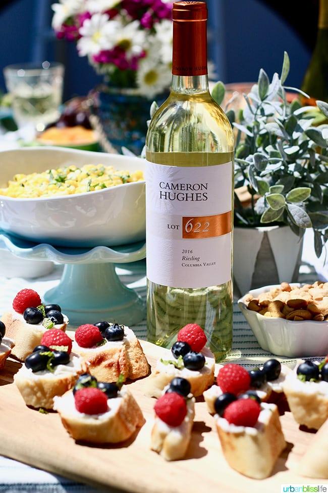 sunny summer soiree berry crostini white wine