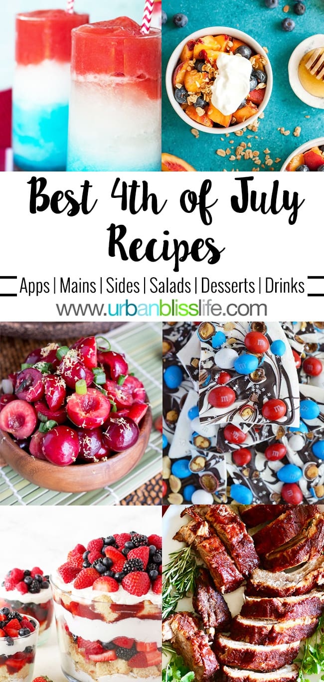 Best 4th of July Recipes on UrbanBlissLife.com