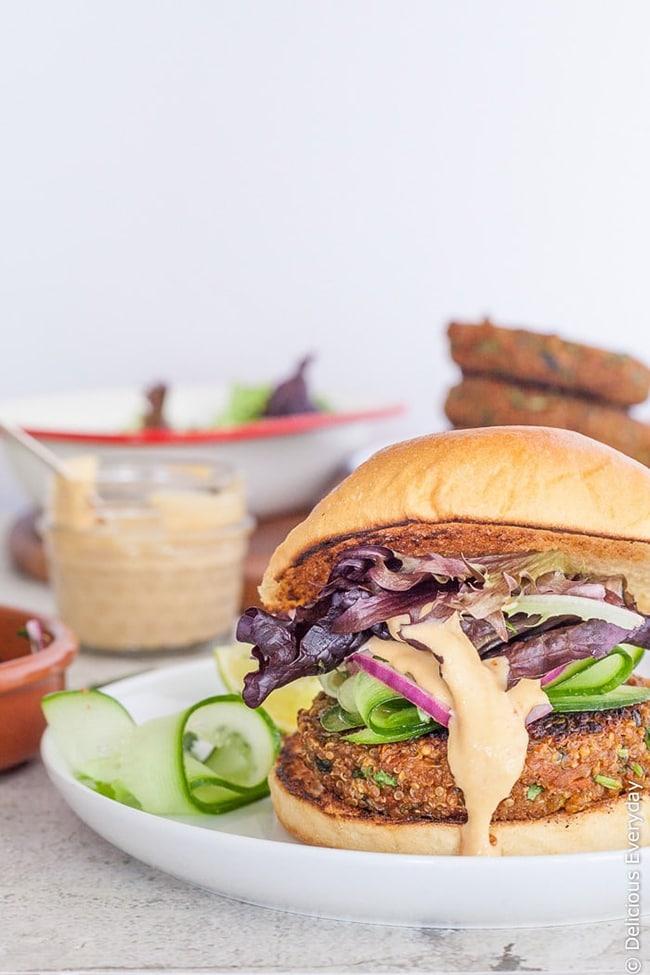 Quinoa Vegetarian Burgers