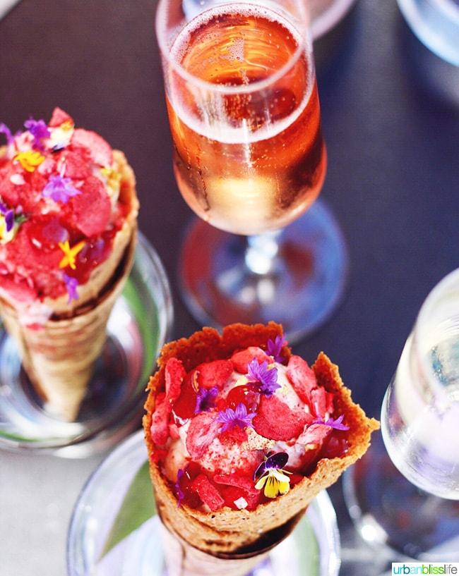 cocnut ice cream berry swirl rose