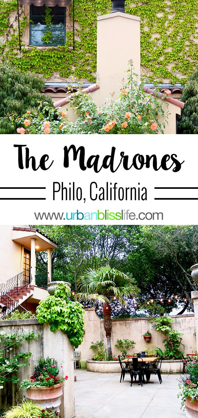 The Madrones hotel Philo, California