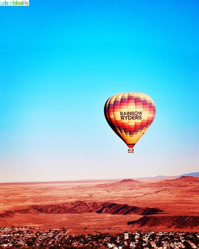 hot air balloon ride over Albuquerque