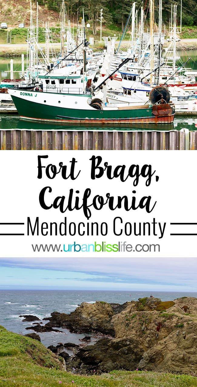 Fort Bragg California in Mendocino County - Pomo Bluffs, Noyo Harbor boats