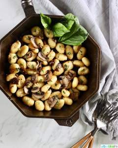 Skillet Gnocchi with Mushrooms