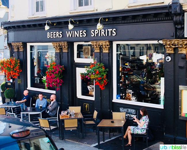 Beer wine spirits pub London