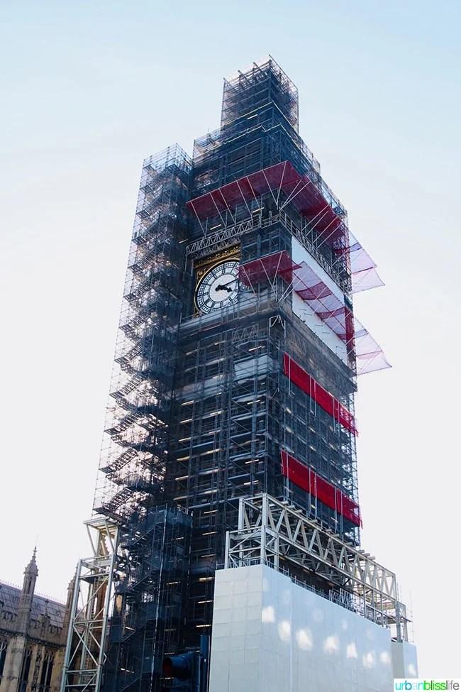 Big Ben under construction