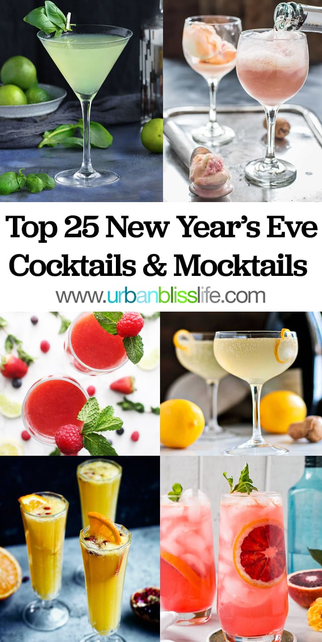 Ring in the New Year with Festive New Year's Eve Cocktails and Mocktails