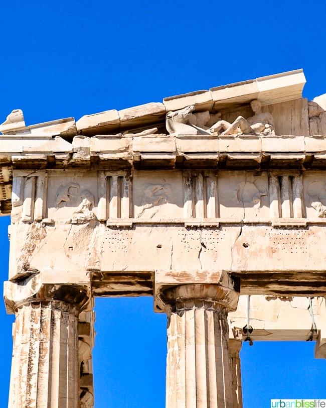 Parthenon at the Acropolis in Athens, Greece