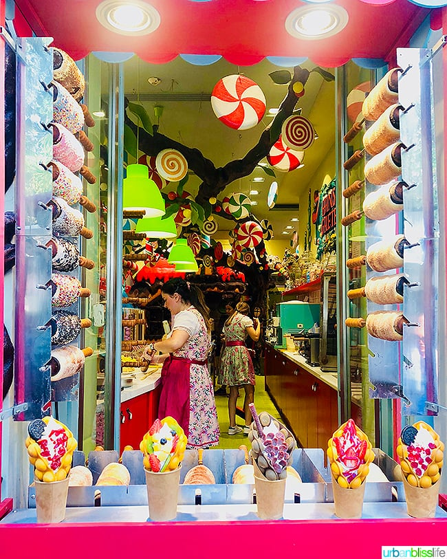candy store in Plaka and Monstariki Athens Greece