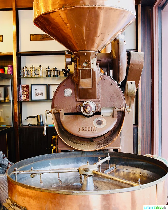 old coffee roaster in Athens, Greece