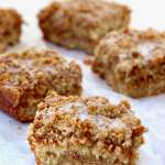 Banana Crumb Coffee Cake slices