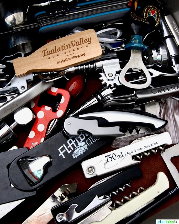 corkscrews and bottle openers