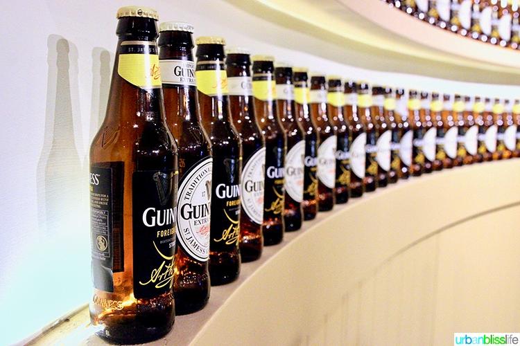 Guinness Storehouse beer bottles