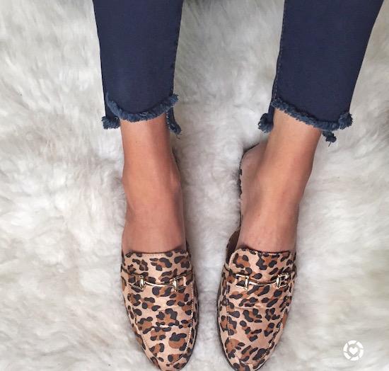 leopard mule slides