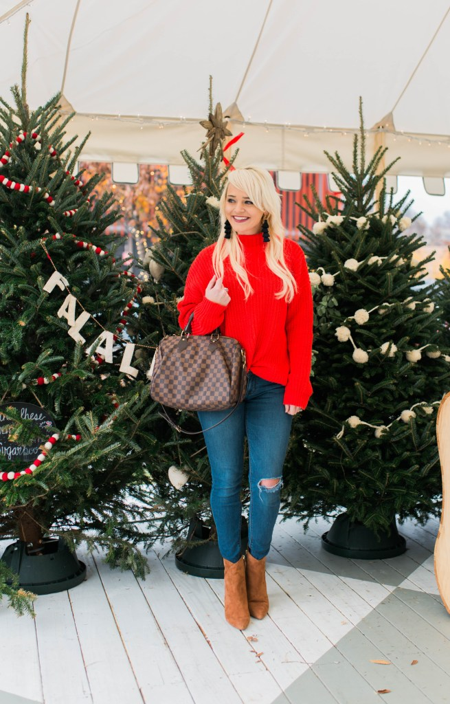 red-sweater-for-the-holidays-christmas-tree-farm