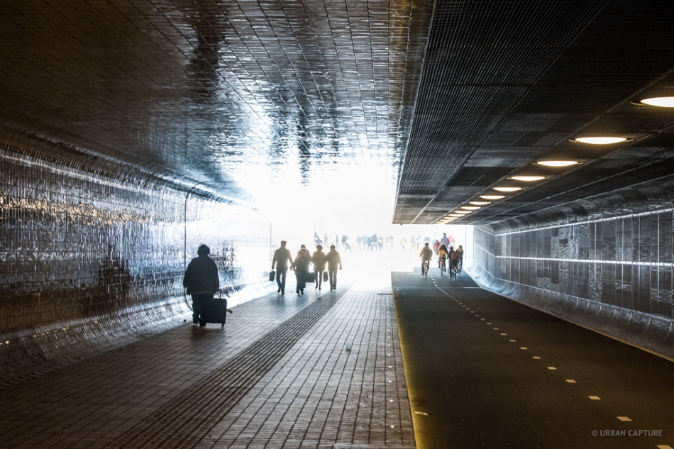 Cuyperspassage Bicycle Tunnel Central Station Amsterdam