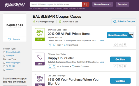 RetailMeNot Screenshot